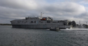 Christening of the 11th Expeditionary Fast Transport vessel took place recently at Austal USA, Mobile, Ala. U.S. Navy photograph by Bill Mesta
