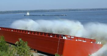 A barge launched by Trinity Marine Group. Trinity Marine photo.