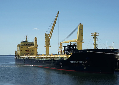 The bulk carrier Marguerita was equipped with a 'magic pipe' to conceal illegal oily waste discharges, according to U.S. prosecutors. MST photo.
