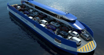 The vessel will be powered by four Scania DI13 070M main engines, each producing 184 kW (247 hp) at 1,800 rpm. Incat Crowther photo