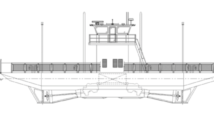 Donald L. Blount & Associates (DLBA), Chesapeake, Va., a division of Gibbs & Cox, has announced a partnership with Champion's Auto Ferry, Harsens Island, Mich., for the development of a new 84'x 31' double-ended ferry. DLBA rendering