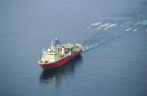 A seismic survey ship. International Association of Geophysical Contractors photo.