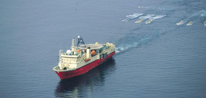 A seismic survey ship. International Association of Geophysical Contractors photo.