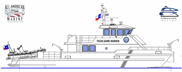 The new vessel will be constructed at All American Marine's new 57,000 sq. ft. facility on Bellingham Bay. All American Marine rendering