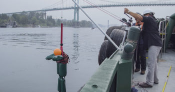The new rescue davit is a portable man overboard rescue device, designed for use on tugs, barges and other workboats. Harken Industrial photo
