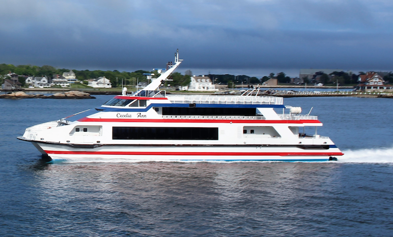 Cross Sound Ferry's 143' Cecelia Ann, built by Austal shipyard in Mobile, Ala., in 2003. Photo courtesy of Cross Sound Ferry