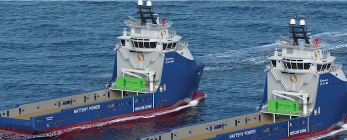 The Rolls Royce UT771CDL design can accommodate an upgrade to a battery hybrid power solution. DNV GL image