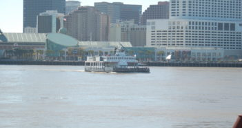 One of two ferries that currently run on the downtown ferry route in New Orleans. Ken Hocke photo