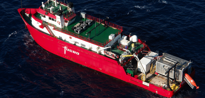The Fugro Enterprise is conducting geotechnical surveys for wind energy development off New Jersey. Fugro photo.