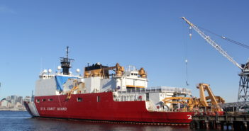 The Coast Guard icebreaker Healy is undergoing a $7.3 million overhaul at Vigor Industrial's Seattle shipyard. Vigor photo.