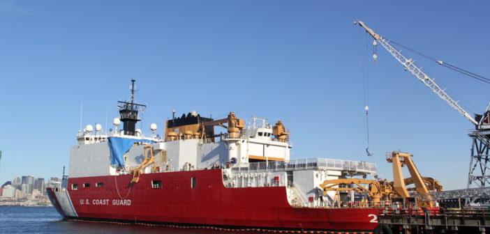 The Coast Guard icebreaker Healy is undergoing a $7.3 million overhaul at Vigor Industrial's Seattle shipyard. Vigor photo.