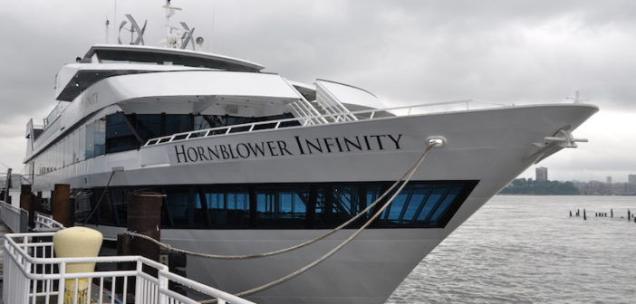 The 210-foot Hornblower Infinity is part of Hornblower's New York fleet. David Krapf photo