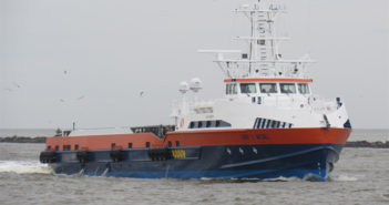 New fast support vessel was designed by Incat Crowther and built in Franklin, La. Incat Crowther photo