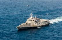 The littoral combat ship USS Coronado (LCS 4). Navy photo by Mass Communication Specialist 2nd Class Jacob I. Allison