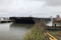 The NYNJR200, second of two rail car barges built by Metal Trades Inc., was delivered in New York Harbor in mid-December 2018. Photo courtesy Metal Trades.