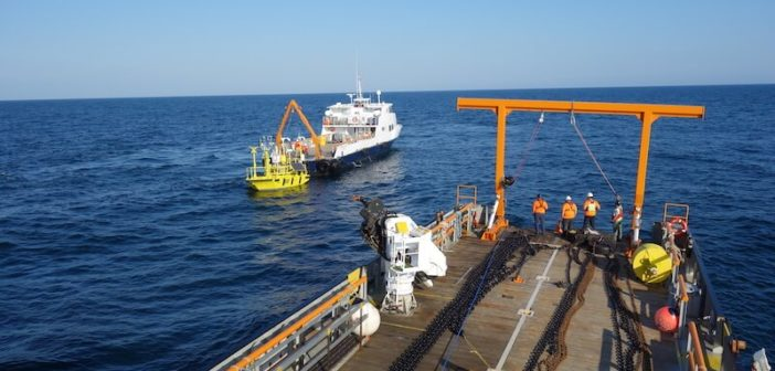 Ocean Tech Services deployed two LiDAR buoys in 2017 for offshore wind energy studies off Martha's Vineyard, Mass. OTS photo.
