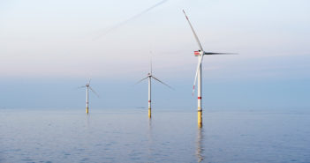 Ørsted's Godewind trubine array in the North Sea. Ørsted photo.
