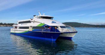 AMD designed the three 43.5 meter (142') passenger ferries for San Francisco Bay's Water Emergency Transportation Authority (WETA). Elliott Bay Design Group photo