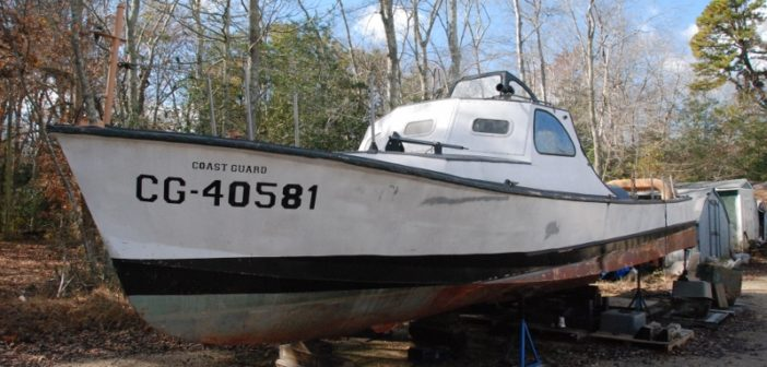 This former Coast Guard Utility Boat Mark IV is undergoing yet another restoration in New Jersey. Kirk Moore photo.