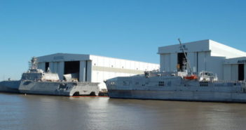 The work will include engineering, management, and production services in support of prefabrication efforts, material procurement and execution of work items for the LCS 20 Extended Industrial Post Delivery Availability. Ken Hocke photo