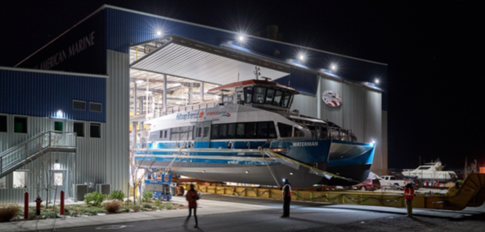 New water taxi will be the first hybrid electric passenger ferry in Puget Sound. All American Marine photo