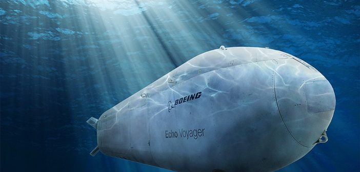Boeing's Echo Voyager autonomous submarine is the model for the Navy's planned Orca subs. Boeing image.