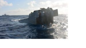 Coast Guard cutter Alert boarding teams interdicted a low-profile go-fast vessel suspected of smuggling cocaine in the Eastern Pacific Ocean Jan. 4, 2019. Coast Guard photo.