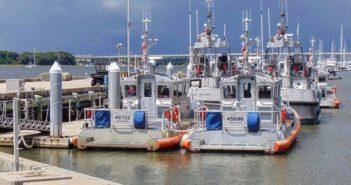Coast Guard Station Charleston's rescue boats moored at Station Charleston in Charleston, South Carolina. Coast Guard Station Charleston Instagram post on Dec. 2, 2018. (U.S. Coast Guard photo by Seaman Nathan Gulliot)