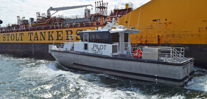 New pilot boat for Texas pilot association. Metal Shark photo