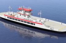 """The two new 185'x46'x10'6"""" ferries will replace the smaller Hatteras-class ferries that currently serve North Carolina. C. Fly Marine Services rendering"""