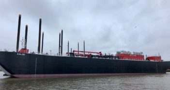 B. No. 252 is the newest ATB barge for Bouchard Transportation. Bouchard Transportation photo.