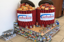 During the month of February, facilities across the U.S. and Canada participated in the second annual Canstruction Challenge. Carboline Company photo