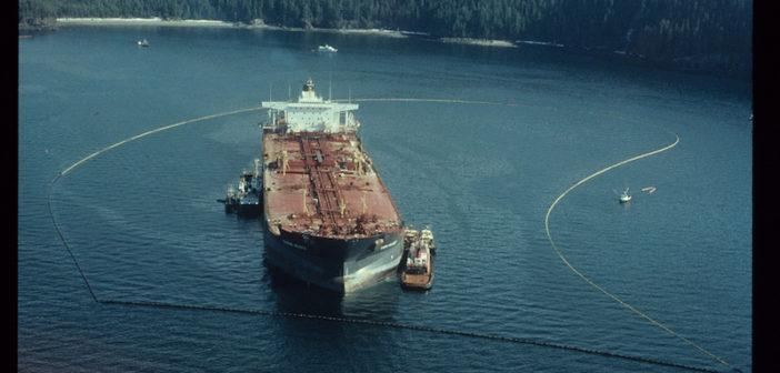 The Exxon Valdez on April 13, 1989. Photo courtesy of ARLIS