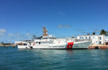 The fast response cutter, Joseph Doyle, in Key West, Fla. Bollinger Shipyards photo