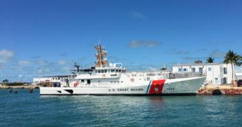 The fast response cutter, Joseph Doyle, in Key West, Fla. Bollinger Shipyards photo