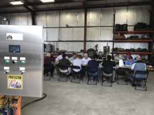 In late February, DDR introduced its skid to numerous naval architects, engine suppliers and towboat companies at its facility in Gray, La. DDR Flow Control photo