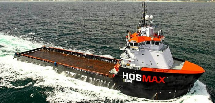 The Hornbeck OSV Red Dawn. With their big cargo decks and massive tank capacity, OSVs can be suitable for disaster recovery operations, industry advocates say. Easter Shipbuilding photo