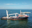 With its two SCD 560 STP Schottel azimuth thrusters, the diesel-electric vessel reaches a speed of 14 knots. Schottel photo