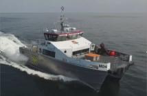 A WMD offshore wind Crew Transfer vessel (CTV) underway. Rockledge Marine Services photo