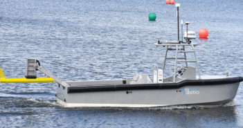 The SR-Endurance 7.0 is capable of deploying towed sonar/instrument systems, dipping sonar/systems, or ROV systems. SeaRobotics photo