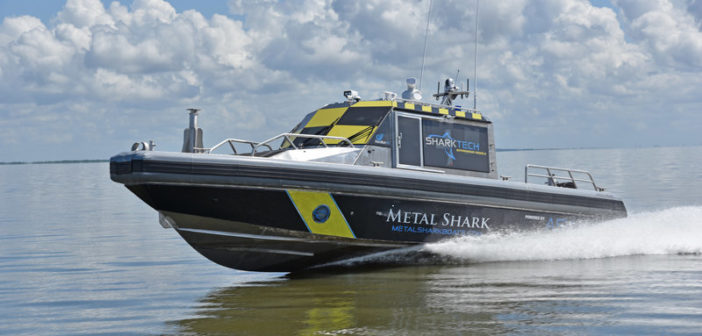 An expanded focus on autonomous technology, LNG and hybrid propulsion systems and other technologies dramatically underscored the need for increased engineering capacity and capability for Metal Shark. Metal Shark photo