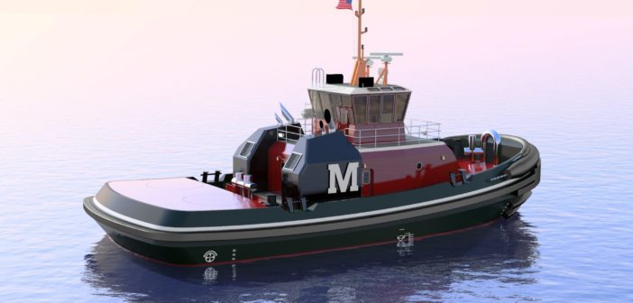 The new boats will be the latest in a series of seven Jensen-designed tugs for Moran over the past decade. Crowley Maritime Corp. rendering