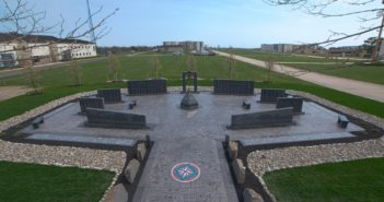 The Coast Guard Enlisted Memorial stands adjacent to the parade ground at Coast Guard Training Center Cape May, N.J. Coast Guard photo