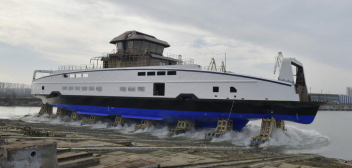 The ferries have been built to Damen's Road Ferry 8117E3 design. Damen Shipyards photo
