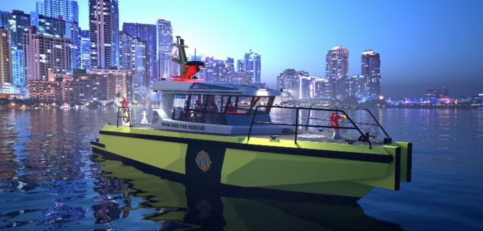 Metal Shark will build Defiant 50 X fireboats for the Miami-Dade Fire Rescue Department in south Florida. Metal Shark image
