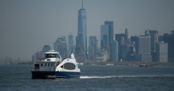 New York City Mayor Bill de Blasio says NYC Ferry will double capacity by 2023 to serve a projected nine million annual riders. But the system is under fire for escalating costs. Michael Appleton/Mayoral Photography Office.