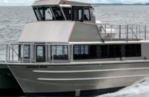 New catamaran is carrying passengers on whale watching excursions in Alaska. photo courtesy Armstrong Marine USA/Maddie Hunt, Mountainheart Photography