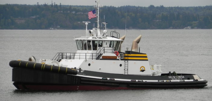 The Delta Teresa is a hybrid tug built for Baydelta Maritime by Nichols Brothers Boat Builders. Nichols Brothers photo