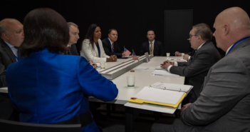 U.S. EPA Administrator Andrew Wheeler meets with U.S. stakeholders from Ocean Conservancy and LyondellBasell. EPA photo