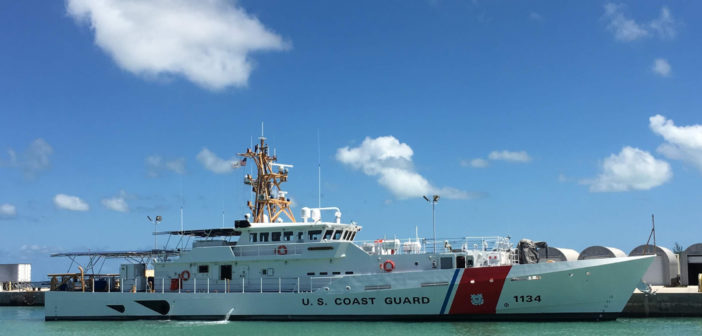 The latest fast response cutter in Key West, Fla. Bollinger Shipyards photo